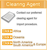Click your region to see contact details of clearing agent