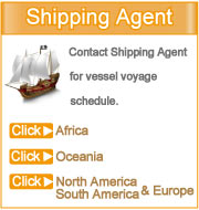 Click your region to see contact details of shipping agent