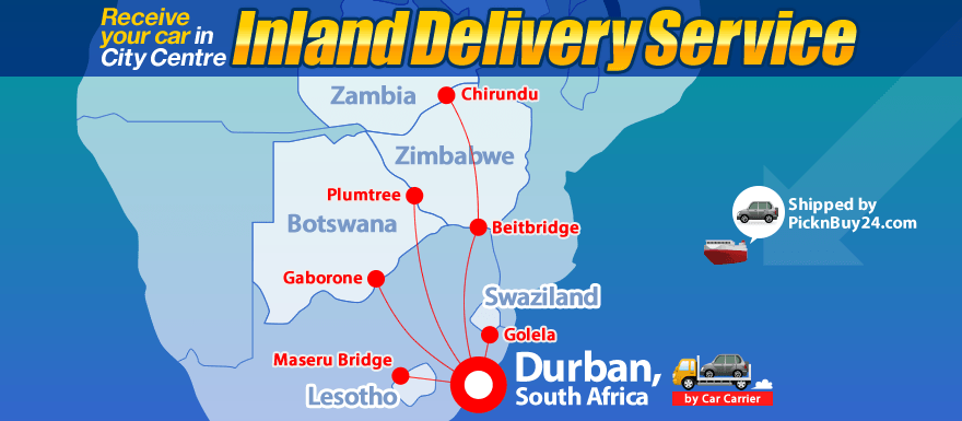 Inland Delivery Service via Durban