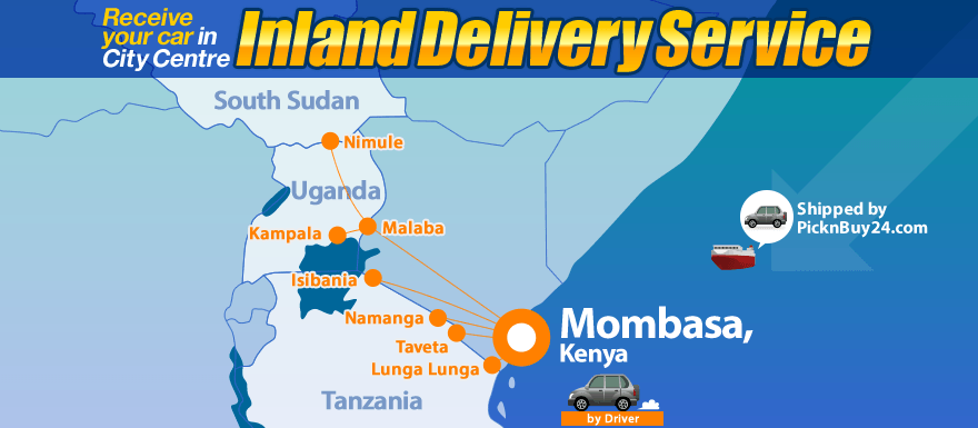 Inland Delivery Service via Mombasa